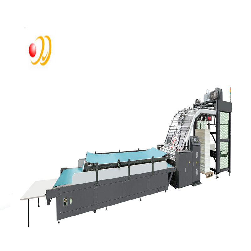 Fully Automatic Flute Laminating Machine For 350gsm Paper Cardboard PLC Control